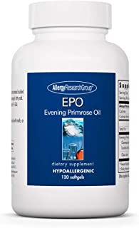 Allergy Research Group - EPO Evening Primrose Oil - Omega-6, GLA Gamma-Linolenic Acid - 120 Softgels