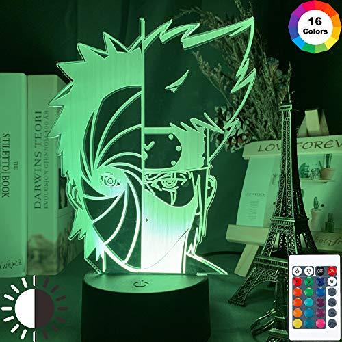 3D LED Nachtlicht, Illusion Lampe drei Muster und 16 Farbwechsel Dekor Lampe - perfekte Geschenke für Kinder und [Energieklasse A+]