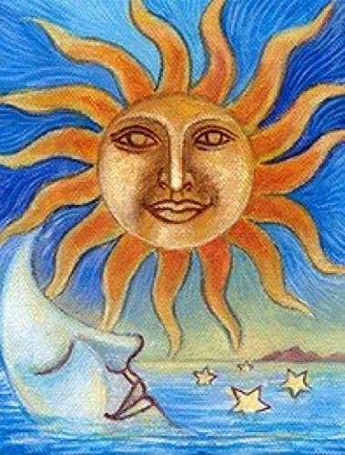 LFLFLF Sun Moon-Mini Classic 5000 Piece Jigsaw Puzzle Game, Fun Toys for Children And Teenagers-Intellectual Decompression Family Educational Game