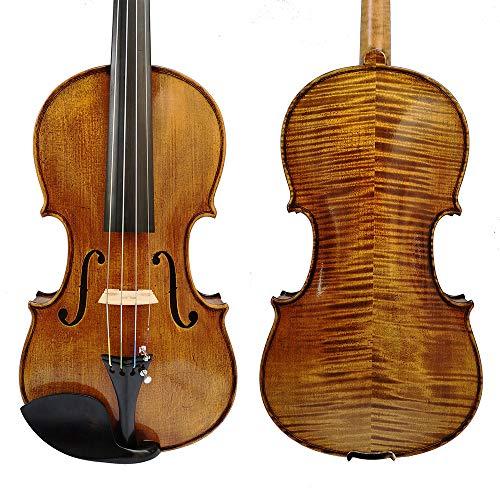 ZHAOHAONB Geige Kopieren Sie Stradivarius 1715 100% handgemachtes ätherisches Öl Violine Carbon Bogen Schaumstoff Fall Violon
