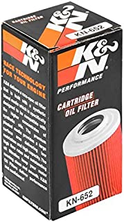 K&N Motorcycle Oil Filter: Premium High Performance Oil Filter designed to be used with synthetic or conventional oils fits 2007 - 2018 KTM, Husqvarna Oil Filter KN-652