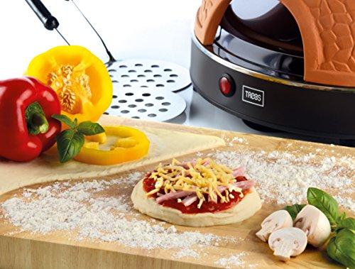 Trebs 99301 Pizzaofen mit Terrakottakuppel für 8 Personen, Pizzadom,...