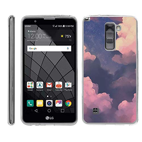 TurtleArmor   Compatible with LG Stylus 2 Case   LG G Stylo 2 Case [Flexible Armor] Flexible Slim Fitted TPU Bumper Case Cover - Clouds