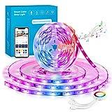 Alexa Dreamcolor Ruban LED 5M WiFi, Maxcio Bande Led 5050 RGB Multicolore Compatible avec Alexa/Google Home, Contrôlé par L'APP, Ruban à LED Sync avec Musique Décoration pour Chambre,Bar,Fête,Mariage