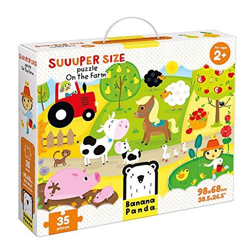 Banana Panda - Suuuper Size Puzzle On the Farm - Riesenpuzzle für Kinder ab 2 Jahren