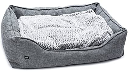 ✔ TRÄUMEN WIE AUF WOLKE 7 - Schenke deinem Liebling einen komfortablen Schlafplatz - bequemes, kuscheliges Polster für Geborgenheit & wohlige Erholungsphasen. Das Wendekissen kann von zwei Seiten benutzt werden. ✔ ZEITLOSES DESIGN - Sei dir der bewun...
