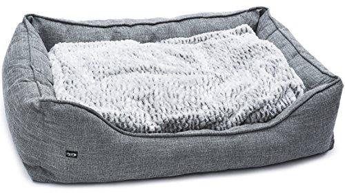 PetPäl Premium Hundebett - Größe XXL - Hundekorb für große Hunde - Hundekissen mit Warmer Polsterung & Rutschfestem Boden - Kuscheliger, Flauschiger Hundeplatz - Größe XXL, Maße: 120x80cm
