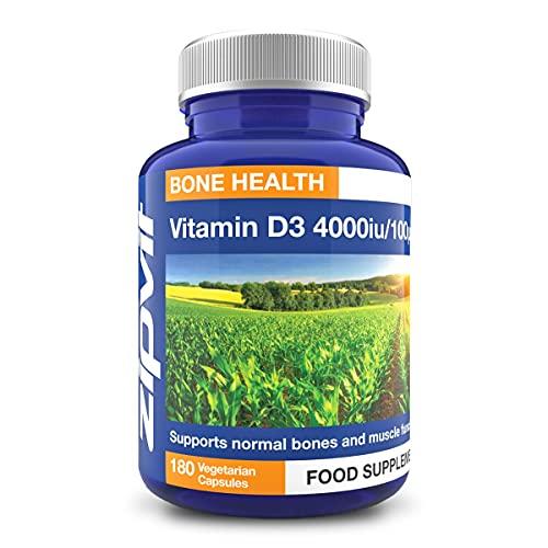 Vitamin D 4000 iu, 180 Vegetarian Softgels. 6 Months Supply. Vegetarian Society Approved.