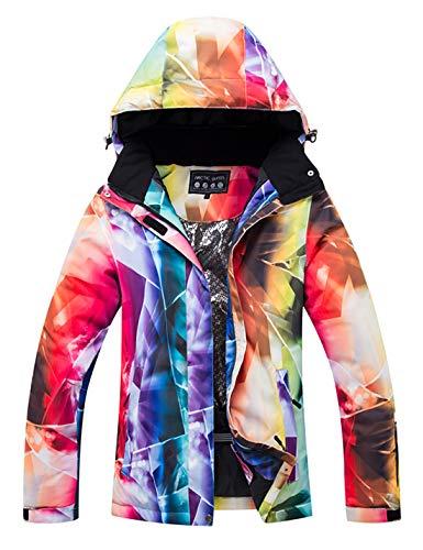 APTRO Damen Skijacke Winter Jacke warm gefüttert Outdoor Funktionsjacke Regenjacke Weiß 772 S