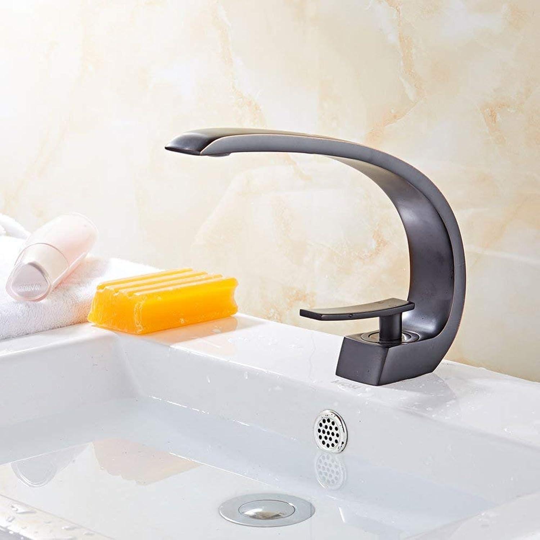 FuweiEncore Wasserhahn Europischen schwarzen Alten Becken Wasserhahn Bad unter dem Becken Wasserhahn Retro hei und kalt Wasserhahn Waschbecken Wasserhahn