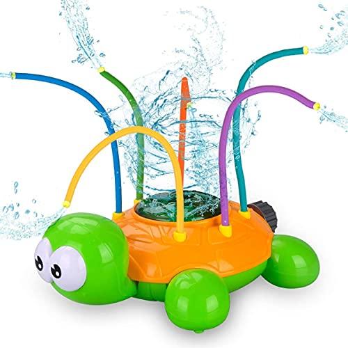 Wassersprinkler Spielzeug für Kinder, Wasserspielzeug Garten Spielzeug, Sprinkler Kinder Spielzeug, Kinder Sommer Wassersprühsprinkler mit Schildkröt für Hinterhof, Rasen, Spielen im Freien,...