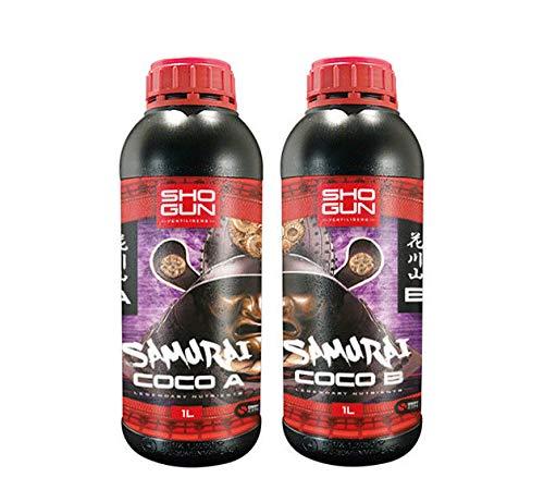 Shogun Samurai Coco A&B Grow Bloom Root Nutrient Fertiliser Hydroponics (1L...