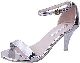 Sandalias de Vestir tacón Alto Boda para Mujer y Niña, QinMM Casual Zapatos Verano Fiesta Playa Chanclas Romano