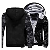 lxwi Warme Daunenjacke, leichte und Dicke, Winddichte J Winter Outdoor Fleece Camouflage Jacke...