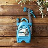 Posten Anker Premium Gartenschlauch-Set bis zu 15 Meter | Wasserschlauch inkl. Sprühpistole und 7 Spritzfunktionen | Flexischlauch mit Wandhalterung I Garten Schlauch I