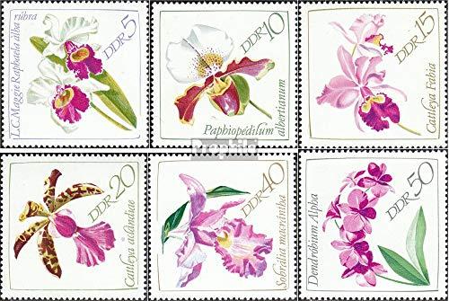 Prophila Collection DDR 1420-1425 (kompl.Ausgabe) 1968 Orchideen (Briefmarken für Sammler) Pflanzen