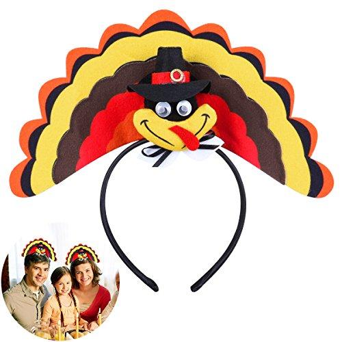 Tinksky Bandeau de Cheveux en Bande de Turquie Headpieces de Thanksgiving Head Hoop Thanksgiving Day Dress Up Costume Party Accessory
