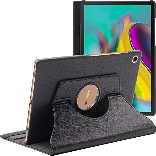 ebestStar - kompatibel Samsung Galaxy Tab S5e 10.5 Hülle T720/T725 Rotierend Schutzhülle Etui, Schutz Hülle Ständer, Rotating Case Cover Stand, Schwarz [Tab: 245 x 160 x 5.5mm, 10.5'']