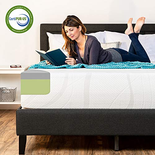Best Choice Products 12in King Size 2-Layer Medium-Firm Bamboo Charcoal Gel & Green Tea Infused Memory Foam Mattress