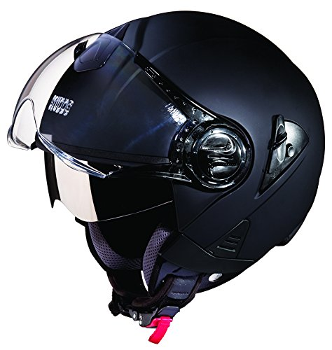 Studds Downtown SUS_DONOFH_MBLKXL Open Face Helmet (Matt Black, XL)