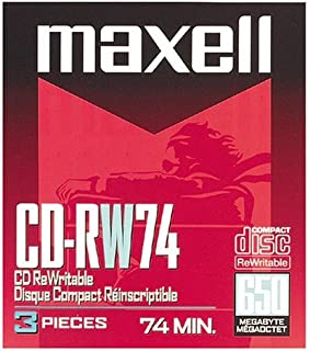 Maxell(R) CD-RW, 650MB/74 Minutes, 1x-4x, Pack of 3