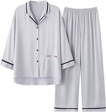 RENJIANFENG De Las Mujeres Satén De Seda Conjunto De Pijamas ...