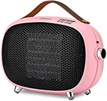 Space Heater, Teioe Mini Electric Space Heater 800W/400W, Small PTC Ceramic Heater with Tip-Over and Overheat...