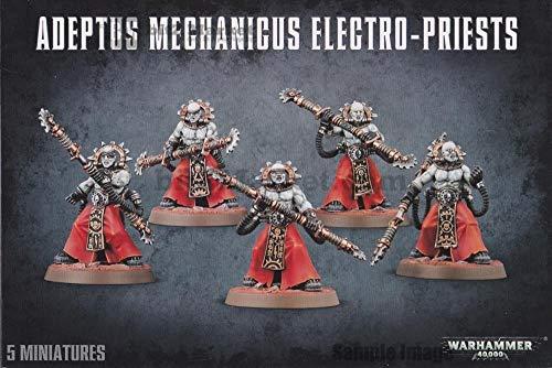 GAMES WORKSHOP Figura de acción de Warhammer 40 en Adeptus Mechanicus Electro-Priestes, 9900000009