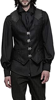 Punk Rave Men's Black Gothic Steampunk Waistcoat Sleeveless Vest