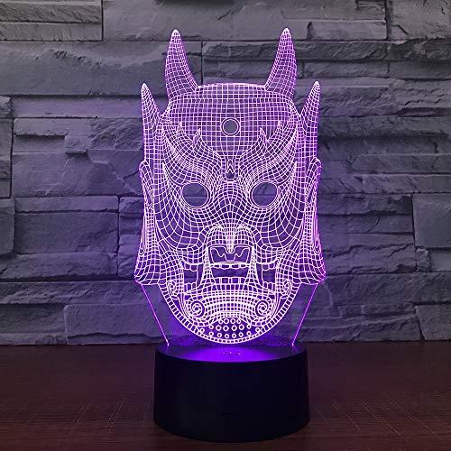 Nocturna Lámpara Máscara Fantasma 3D Lámpara Colorida Gradiente Atmósfera Lámpara De Mesa...