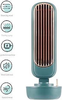 YLXD Aire Acondicionado Portátil Refrigeracion Mini Enfriador De Aire Silencioso Climatizador Evaporativo Ventilador Purificador Humidificador Leds,3 Velocidades para Coche Casa Oficina
