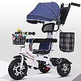 AI-QX Besrey Triciclos Bebes, Triciclo Bebe evolutivo Infantil 7en1 Bicicletas para Bebe niños reclinable Triciclo Cochecito con Cuna Reversible al Padres,White