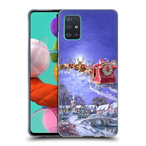 Head Case Designs Ufficiale The Macneil Studio Slitta Babbo Natale Cover in Morbido Gel Compatibile con Samsung Galaxy A51 (2019)