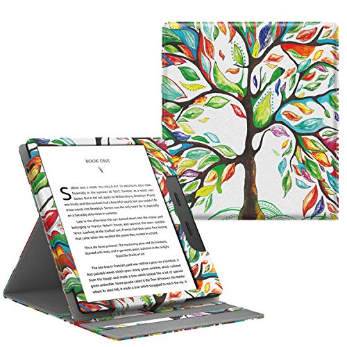 "TiMOVO Case Compatible for All-New Kindle Oasis (10th Generation, 2019 Release), Vertical Multiple Viewing Angles Flip Stand Cover with Auto Wake/Sleep Fit Amazon 7"" Kindle Oasis - Lucky Tree"