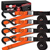 Progrip Powersports Motorcycle Soft Loop Tie Down Straps Lab Tested (4 Pack) Org