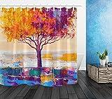 NNAYD1996 Árbol de otoño Pintura al óleo patrón de Arte Impresión Digital a Prueba de Agua y Moho