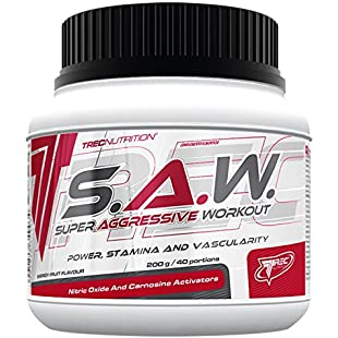 Trec Nutrition -S.A.W. -saw- Super Anabolic Workout -200g -Power, Stamina and Vascularity!