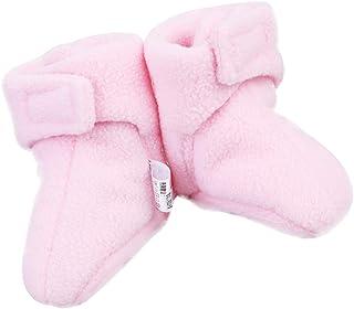 NUOBESTY, 11cm Baby Boys Girls Fleece Calcetines de bebé Botines acogedores Fleece Zapatillas Infantiles Calcetines de Piso Talla m Rosa