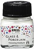 Kreul 16273 - Glass & Porcelain Farbverdünner farblos, 20 ml Glas, Medium zum Verdünnen von Glas- und Porzellanmalfarben, für aquarellartige Farbeffekte