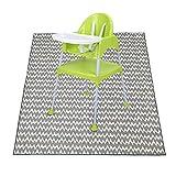 Generic Brands Baby Splash Mat, Alfombrilla de Piso Plegable con Antideslizante Impermeable, Alfombra de Juego portátil para Debajo de la Silla Alta, Artes, Manualidades, Adecuada para niños