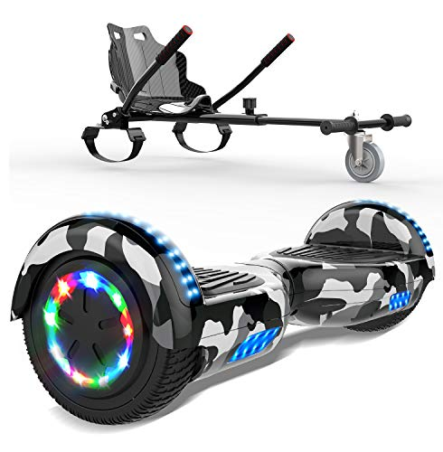 SOUTHERN WOLF 6,5 Zoll Hoverboard mit Bluetooth, LED-Leuchten,350W *2 Motorbeleuchtung + Hoverkart, Self Balance...