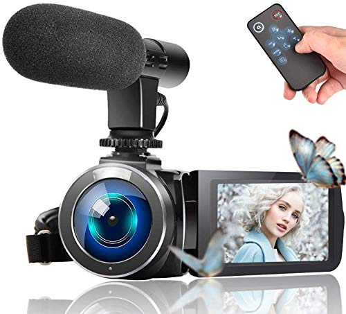 For Sale! Video Camera Camcorder, Vlogging Camera Full HD 1080P 30FPS 3'' LCD Touch Screen Vlog Vide...