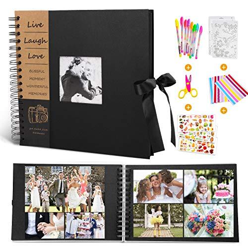MMTX DIY Scrapbook Fotoalbum Weihnachtsgeschenk,100 Schwarze Seiten 10