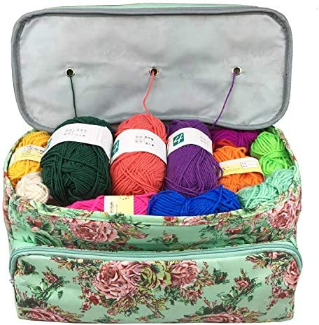 Lightweight Yarn Knitting Bag for Carrying Portable Yarn Storage Organizer Tote Bag Holder Case product image