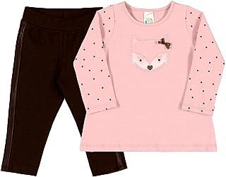 Conjuntos Rosa Chá Bebê Menina Cotton Ref:37120-872