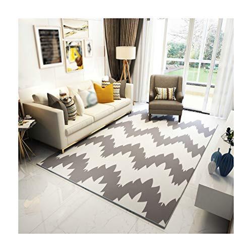 William 337 Teppiche Teppich-Geometrie-Wohnzimmer-Sofa-Teppich-Couchtisch-Decke Schlafzimmer-Bett Anti-Belegteppich-Rechteck Matten (Farbe : A, größe : 120CM*160M)