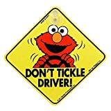 Car Window Sign with Suction Cup - Sesame Street Elmo 'Don't Tickle Driver'