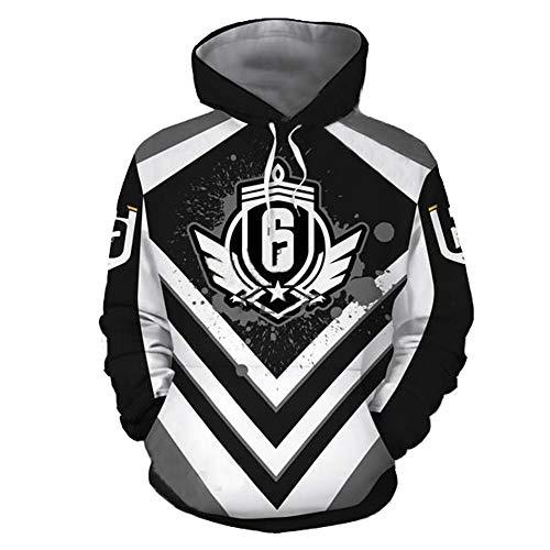 IDEALcos Spiel Siege Tom Cosplay Hoodie Sweatshirt Kostüm Halloween Zipper/Pullover Jacke (M, Schwarz 3)