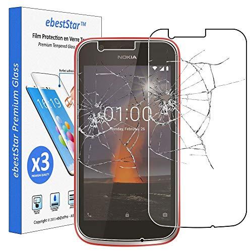 ebestStar - x3 Vetro Temperato Nokia Nokia 1 Protezione Schermo Pacco da 3 Pellicole Anti Shock, Anti Rottura, Anti graffio [Apparecchio: 133.6 x 67.8 x 9.5mm, 4.5'']