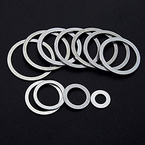 Inner Dia: M21x50mmx0.5mm WSHR-83583 15pcs M21 Ultra-Thin Flat Washers Gaskets Aluminum Washer Gasket 48mm-50mm Outer Dia 0.1mm-1mm Thickness
